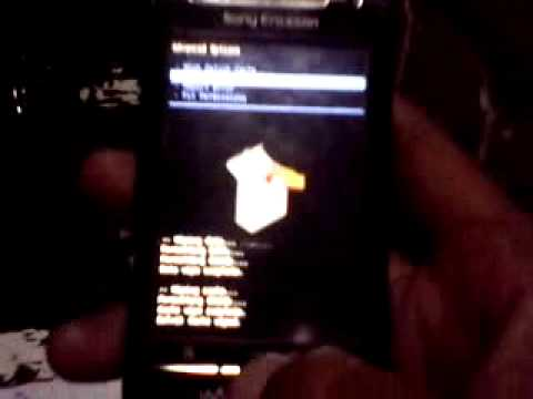 UPDATE SONY ERICSSON W8 ECLAIR 2.1.1 TO XPERIA 2.3.8