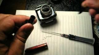 How to refill an Esterbrook lever fill fountain pen without dipping the pen