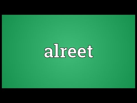 Header of alreet