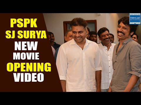 Pawan Kalyan and SJ Surya Movie Opening Full Video | Pawan Kalyan, Anup Rubens | NS Play |  TFPC