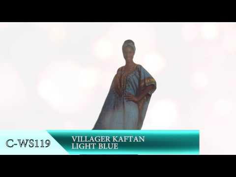 Villagers Kaftan (Light Blue) - Africa Imports