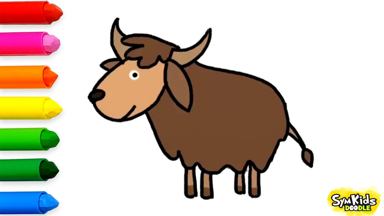 Line Drawing Yak : How to draw a yak youtube