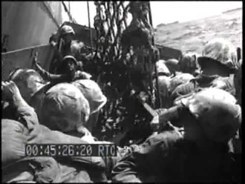 CONVOY ENROUTE, BOMBARDMENT, & MARINE LANDING OPERATIONS, KWAJALEIN ATOLL, ROI IS