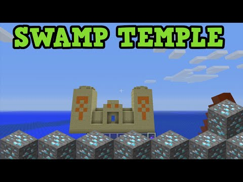 Minecraft Xbox 360 + PS3 GLITCH SEED - SWAMP TEMPLE & BROKEN STRONGHOLD