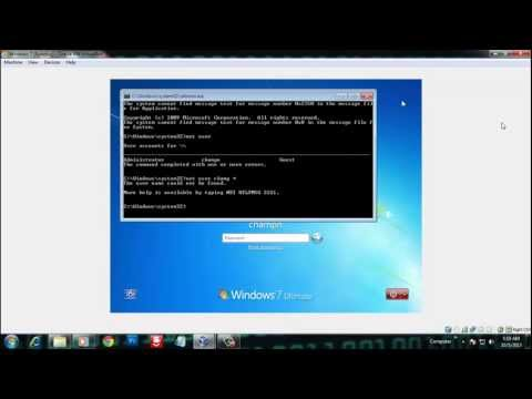 Hacking Windows 7 Password Without any Software 100% working