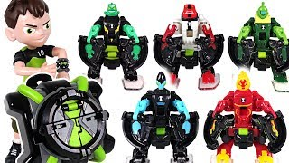 Robot insects appeared! Ben 10! Omni launch transform alien battle figures watch! - DuDuPopTOY