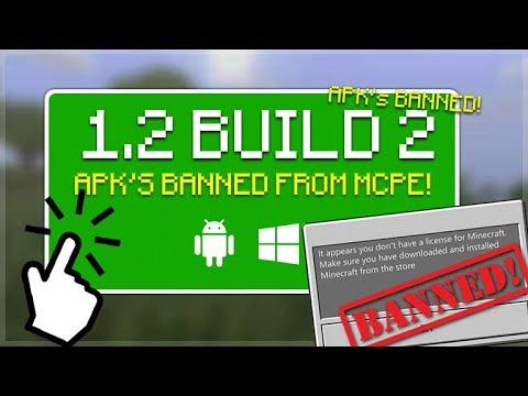 MCPE 1.2 BETA BUILD 2!! Minecraft Pocket Edition - 1.2 BETA Build 2 HUGE Game Changer APK'S BANNED!!