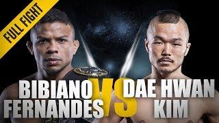 ONE: Full Fight | Bibiano Fernandes vs. Dae Hwan Kim | Over In A Flash | December 2014