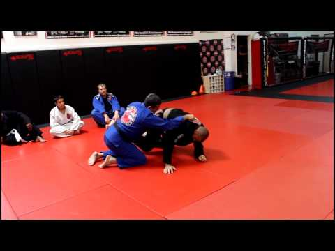 Jiu Jitsu Techniques - Spider Guard/Sweep Variation With X-Guard Image 1