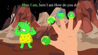 Peppa Pig Green Hulk Finger Family : Little Bee Toons