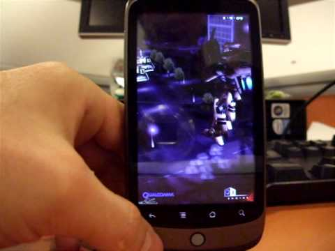Nexus One Google Phone HTC Android 2.1 Preview 2 FR - HD - 3D Benchmark