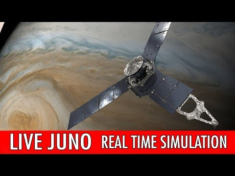 NASA Juno Live : Real time simulation - Follow as it passes of Jupiter's Great Red spot!