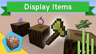 ITEM SHOWCASES in Vanilla Minecraft 1.10+ | Display Items Command Block Creation