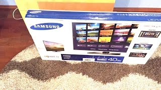 Samsung Smart TV UE40H5500: Unboxing and Setup