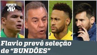 """Flavio Prado compara Neymar a Messi e prevê Seleção de """"BUNDÕES"""" na Copa América!"""