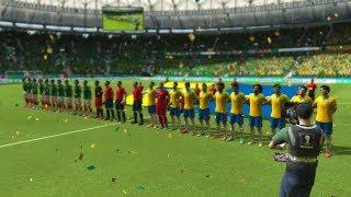 Probando el FIFA World Cup 2014 - Brasil Vs Mexico - Contenido, Goles y Mas Gameplay Xbox