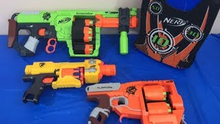 Box of Toys Toy Guns NERF Guns Zombie Strike Kids Fun