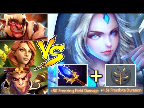 Imba Scepter Crystal Maiden Mid Solo vs Team Carry Epic Gameplay by Afoninje WTF Dota 2
