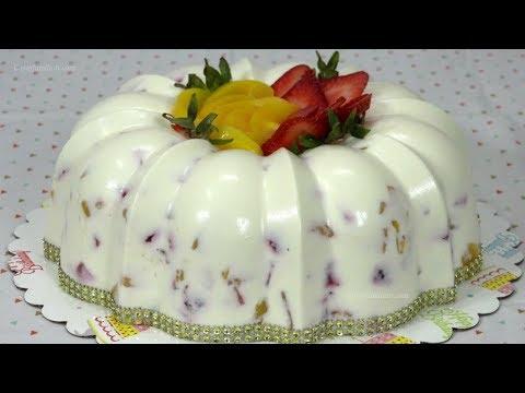 Gelatina de Yogurt Griego con Frutas Naturales   Recetas en Casayfamiliatv