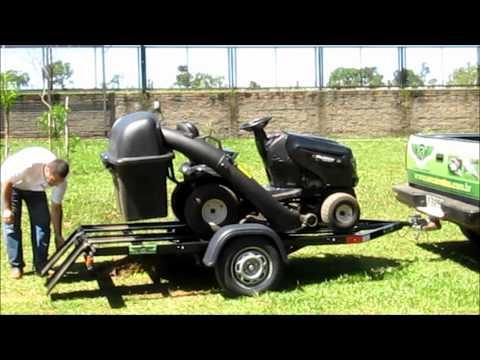 Carreta Basculante para Transporte de Trator de Grama