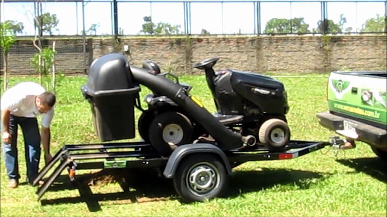 como cortar grama : Carreta Basculante para Transporte de Trator de Grama ...