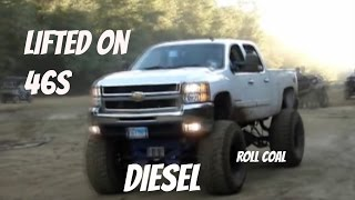 2013 CHEVROLET DURAMAX 2500HD 4X4 on 46s MUDDING & ROLLING COAL