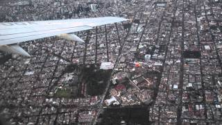 AMAZING VIEW FROM MEXICO CITY AFTER TAKE OFF   BIG CITY