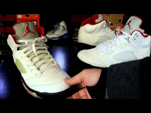 Air Jordan V (5) Retro White/ Fire Red - Black 2013
