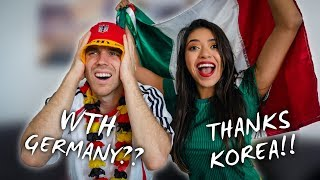 MEXICAN-GERMAN COUPLE REACTS TO GERMANY GETTING ELIMINATED FROM THE WORLD CUP!! (Russia 2018)