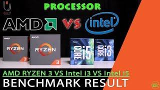 AMD Ryzen 3 VS Intel Core i3 VS Intel Core i5 (Performance Test)  #Ulasan Eps. 177