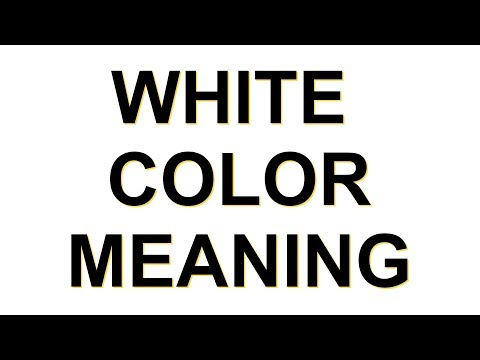WHITE COLOR MEANING