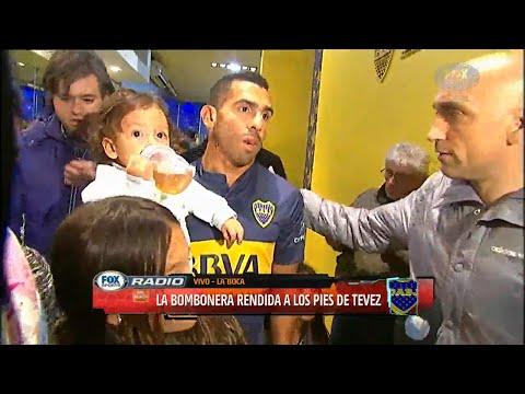 Carlos Tevez vuelve a BOCA Jr   Presentacion Oficial en la Bombonera Completa