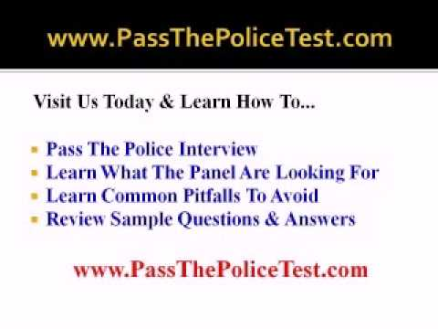 Police Job Interview Questions And Answers