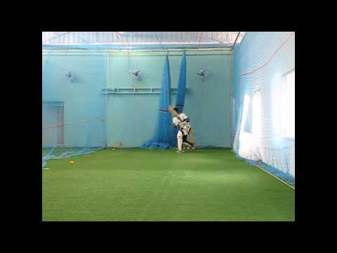 Mcd - Cricket- Practicing Cricket Batting Using Bowling Machine. video