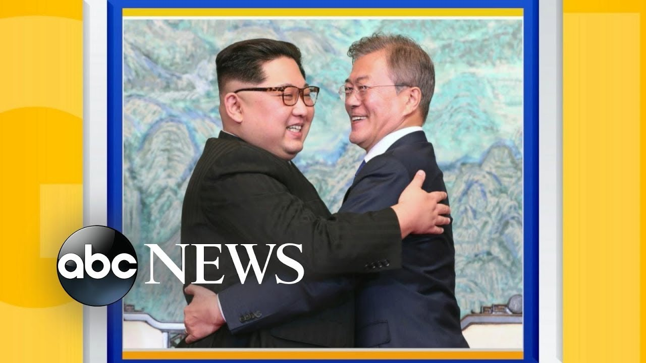 North and South Korean presidents pledge peace at summit