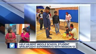 Help local students send science experiments into space