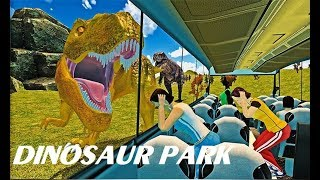 Dinosaur Park Simulator - The Wheels On The Bus Song  | Baby Games - Kids Songs & Stories