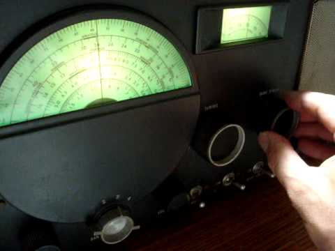 hallicrafters s-40a ham short wave radio demo 2