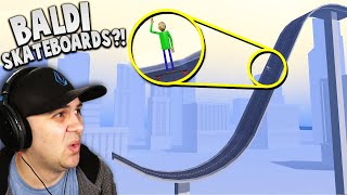I LAUNCHED Baldi off a MASSIVE skateboard ramp!   Turbo Dismount