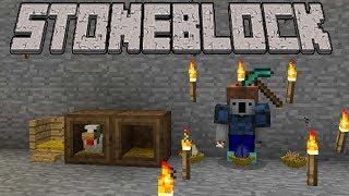 Minecraft StoneBlock Survival Coop 3 - Sieve Automation / Chickens / Huge Smeltery