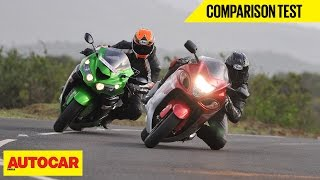 Suzuki Hayabusa VS Kawasaki Ninja ZX-14R | Comparison Test | Autocar India
