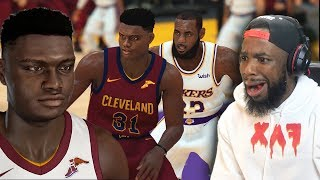 ZION WILLIAMSON vs LEBRON JAMES In NBA 2K19!