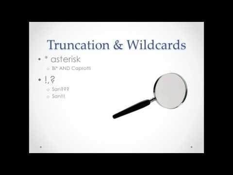 Basic Search - Boolean & Truncation