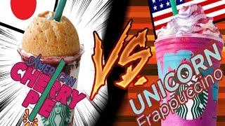 Starbucks Fight! | Unicorn  Frappuccino vs. Japan