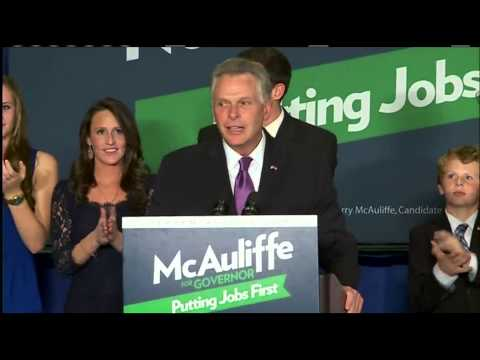 Democrat Terry McAuliffe elected governor of Va.