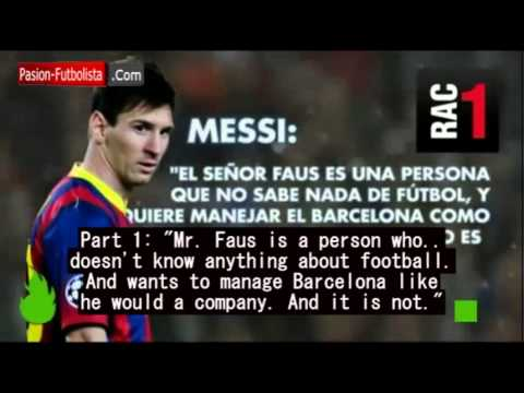 In Messi's own voice - his harsh words against Barca VP Faus