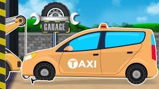 Taxi Car | Car Garage | Car Repair Cartoon Video For Kids
