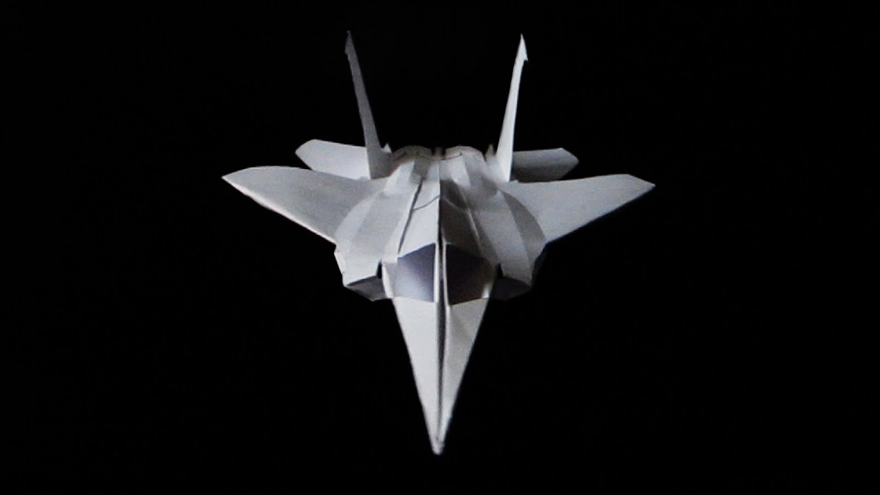 NEW F15 Paper Fighter Plane Folded No Glue