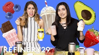 Safiya Nygaard Does The Smoothie Challenge With Lucie Fink | YouTube Challenges | Refinery29