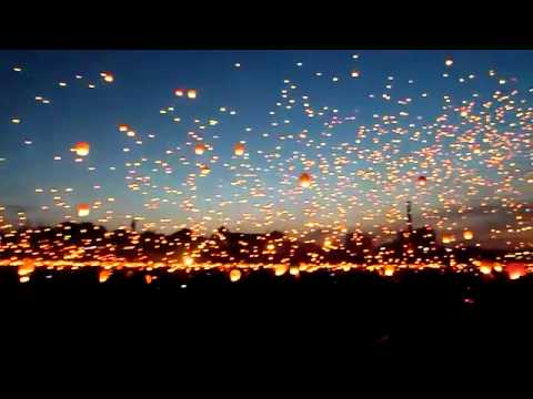 Twinkle twinkle little Chinese lanterns  8,000 flying candles released on shortest night of the year | Mail Online
